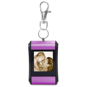 "TAO 1.5"" Digital Photo Key Chain Clip (Holds 100 Pictures) Purple"