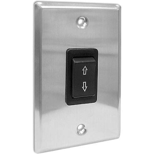 Draper SS-1R-Single Station Control - Electric Screen - Black Switch, Silver Plate