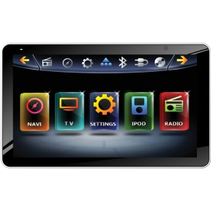 Power Acoustik Inteq PD-931NB Car DVD Player - 9.3&quot; Touchscreen LCD - 68 W RMS - Single DIN - DVD Video, DivX, MP4, MKV, FLV, MOV, AVI, XviD - FM, AM - Secure Digital (SD), Secure Digital High Capacity (SDHC) - Bluetooth - Auxiliary Input800 x 480 - iPod/