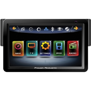 "Power Acoustik Inteq PD-718NB Car DVD Player - 7"" Touchscreen LCD - 68 W RMS - Single DIN - DVD Video, MP4, DivX, MKV, FLV, MOV, AVI, XviD - FM, AM - Secure Digital (SD), Secure Digital High Capacity (SDHC) - Bluetooth - Auxiliary Input800 x 480 - iPod/iP"