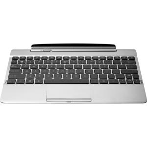 Asus Keyboard - Docking - White - Docking PortTouchPad - Tablet - QWERTY - Card Reader Built-in
