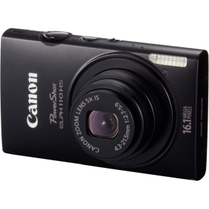 "Canon PowerShot 110 HS 16.1 Megapixel Compact Camera - Black - 3"" LCD - 5x Optical Zoom - Optical (IS) - 4608 x 3456 Image - 1920 x 1080 Video - HDMI - PictBridge - HD Movie Mode"