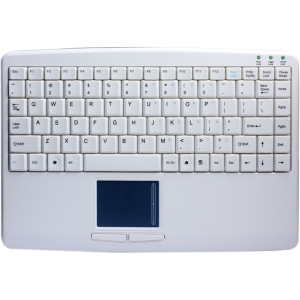 Adesso SlimTouch AKB-410UW Keyboard - Cable - White - USB - 88 Key - English (US) - TouchPad - Computer