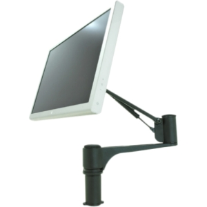 "Spacedec SD-AT-DK Mounting Arm for Flat Panel Display - 12"" to 24"" Screen Support - 19.84 lb Load Capacity - Aluminum, Steel - Black"