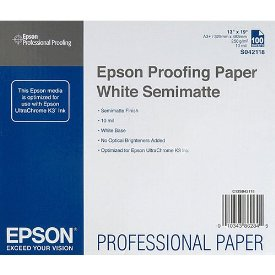 Epson Proofing Paper - Super B - 13&quot; x 19&quot; - 155 g/m - Semi Matte - 88% Brightness - White