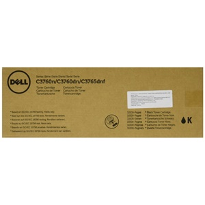 Dell C376XN/DN/DNF BLACK Toner Cartridge - Black - Laser - 3000 Page