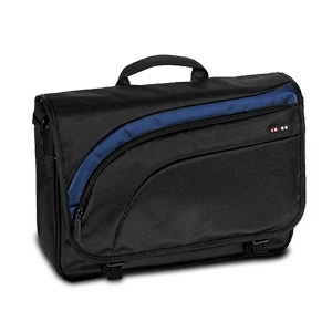 "Targus 5dot 16"" Curve Messenger Laptop Bag (Black/Blue)"