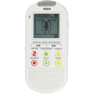 "RCA VR5210 2GB Digital Voice Recorder - 2 GB1.8"" LCD - Portable"