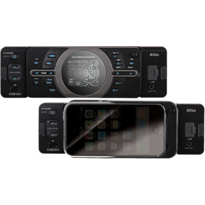 Boss 810DBI Car Flash Audio Player - 320 W RMS - iPod/iPhone Compatible - Single DIN - MP3 - AM, FM - 18, 12 x FM, AM Preset - Secure Digital (SD) Card - Bluetooth - USB - Auxiliary Input - Detachable Front Panel