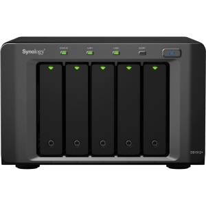 Synology DiskStation DS1512+ 5 Bay (Diskless) Network Storage Server - 2.13 GHz - USB, USB, eSATA, RJ-45 Network