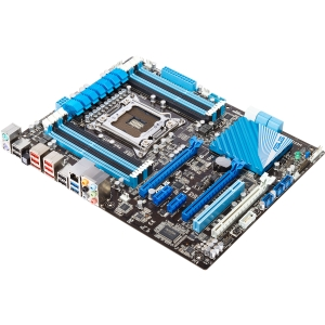Asus P9X79 LE Desktop Motherboard - Intel X79 Express Chipset - Socket R LGA-2011 - ATX - 1 x Processor Support - 64 GB DDR3 SDRAM Maximum RAM - SLI, CrossFireX Support - Serial ATA/600, Serial ATA/300 RAID Supported Controller - 3 x PCIe x16 Slot - 2 x U