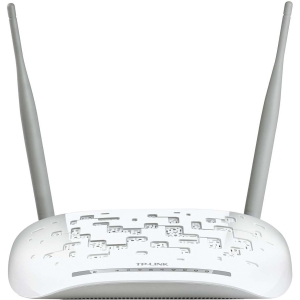 TP-LINK TD-W8968 Modem/Wireless Router - IEEE 802.11n - 2 x Antenna - ISM Band - 300 Mbps Wireless Speed - 4 x Network Port - USB Desktop