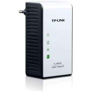 Tp-Link TL-WPA281 Powerline Wireless Network Adapter - 1 x Network (RJ-45) - 984.25 ft Distance Supported - IEEE 802.11n - HomePlug AV - Fast Ethernet