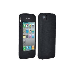 Belkin Grip Groove Silicone Rubber Protective Skin Case for iPhone 4 - Black
