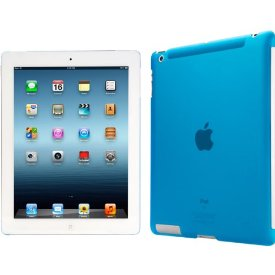 iLuv The Smart Back Cover Translucent Hardshell Case for new iPad - iPad - Blue - Translucent