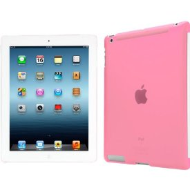 iLuv The Smart Back Cover Translucent Hardshell Case for new iPad - iPad - Pink - Translucent