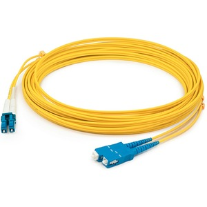 AddOn - Network Upgrades 3M Single-Mode Fiber (SMF) Duplex LC/SC Patch Cable - Fiber Optic for Network Device - 3m - 2 x LC Male Network - 2 x SC Male Network - Yellow