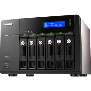 QNAP TS-669 Pro Network Storage Server - Intel Atom D2700 2.13 GHz - eSATA, RJ-45 Network, USB, HD-15 VGA, USB, HDMI