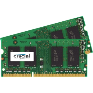 Crucial 8GB DDR3 SDRAM Memory Module - 8 GB (2 x 4 GB) - DDR3 SDRAM - 1066 MHz DDR3-1066/PC3-8500 - Non-ECC - Unbuffered - 204-pin SoDIMM