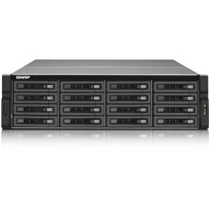 QNAP Ultra-high Performance 16-bay NAS Server with ECC Memory for High-end SMBs - Intel Xeon E3-1225 3.10 GHz - RJ-45 Network, USB, USB, eSATA, HD-15 VGA, HDMI Digital Audio/Video