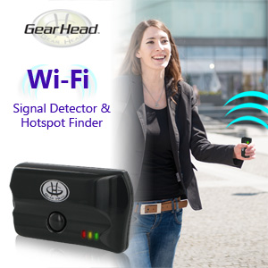 Gear Head WiFi Signal Detector & Hotspot Finder