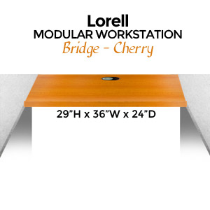 "Lorell Modular Bridge, 29""H x 36""W x 24""D, Cherry"