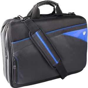 "V7 Edge CTD1 Carrying Case for 16.1"" Notebook - Blue, Black - Gucci Polyester"