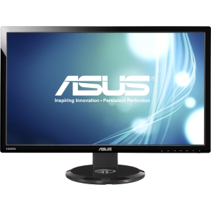 Asus VG278HE 27&quot; 3D Ready LCD Monitor - 16:9 - 2 ms - Adjustable Display Angle - 1920 x 1080 - 16.7 Million Colors - 300 Nit - 50,000,000:1 - Speakers - DVI - HDMI - VGA - Black - WEEE, ErP, J-Moss (Japanese RoHS), RoHS, Energy Star