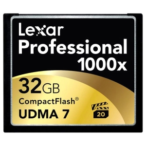 Lexar Media Professional 32 GB CompactFlash (CF) Card - 1 Card/1 Pack - 150 MBps Read