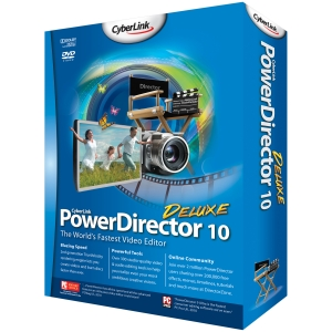 Cyberlink PowerDirector v.10.0 Deluxe - Video Editing Box - CD-ROM - PC - English