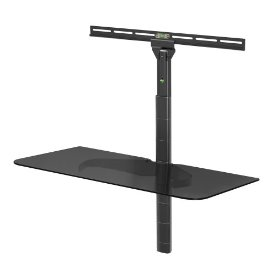 LEVEL MOUNT SINGLE GLASS SHELF FOR 26-65IN TV & 30 LBS