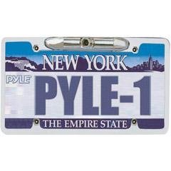 PYLE LICENSE PLATE REARVIEW BACKUP CAMERA INZINC METAL CHROMEIN