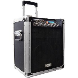BATTERY POWERED PORTABLE PA SYSTEM W/USB/SD/MP3 INPUTS - MIC