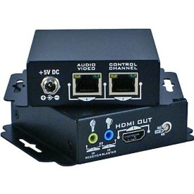 QVS HDMI Dual Cat5e Extender with IR - 200 ft Range - 4 x Network (RJ-45) - 1 x HDMI In