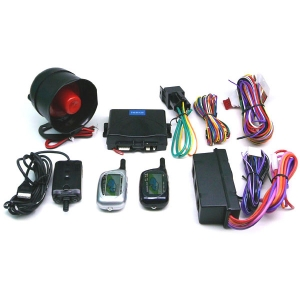 2-WAY FM CAR ALARM SECURITY LCD W/REMOTE ENGINE START