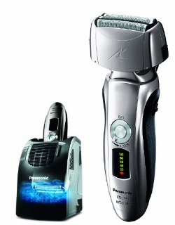 Mens 3-Blade Wet/Dry Shaver with Nanotech Blades, Arc Foil, and Automatic Cleaning and Charging System
