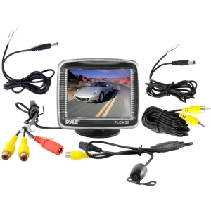 3.5 TFT LCD MONITOR W/ UNIV MNT REAR VW & BACKUP COLOR CMD CAM