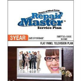 3-YR DOP FLAT PANEL TV PLAN UNDER $10000