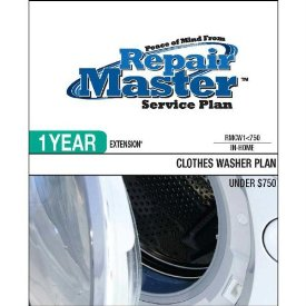 1-YR EXT CLOTHES WASHER PLAN $750 & OVER