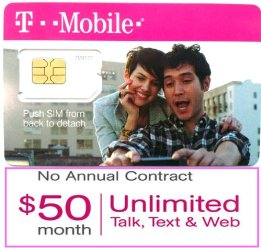 T-Mobile SIM Card, Compatible with any T-Mobile Phone