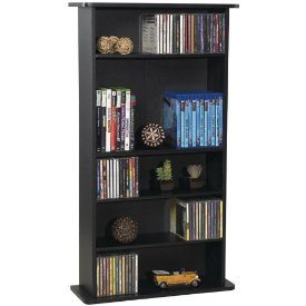 DRAWBRIDGE WOOD MM STORAGE UNIT HOLDS 280 CDS OR 112 DVDS/BLU-RAYS