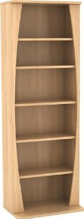 CANOE MM WOOD CABINET MAPLE HOLDS 231 CDS OR 112 DVDS/BLU-RAYS