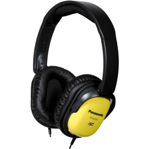 Panasonic Noise Canceling Headphones - Stereo - Yellow - Mini-phone - Wired - 330 Ohm - 10 Hz 21 kHz - Nickel Plated - Over-the-head - Binaural - Ear-cup - 4.92 ft Cable