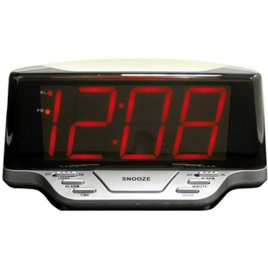 LED ALARM CLOCK 1.8IN RED DISPLAY