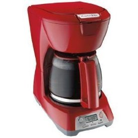 12 CUP PROGRAMMABLE COFFEEMAKER RED