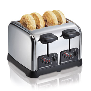 CLASSIC CHROME 4 SLICE TOASTER