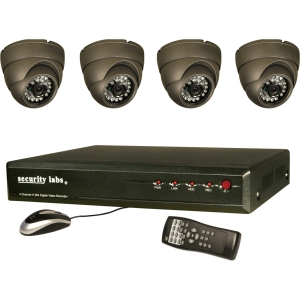 Security Labs 4 Channel 3G/4G H.264 Internet DVR w/ Camera Kit SLM441 - 4 x Digital Video Recorder, Camera - H.264, JPEG Formats - 500 GB Hard Drive