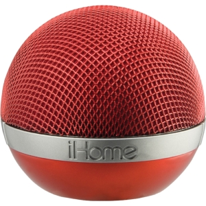 iHome iDM8 Speaker System - Wireless Speaker(s) - Red - SRS TruBass - USB - iPod Supported