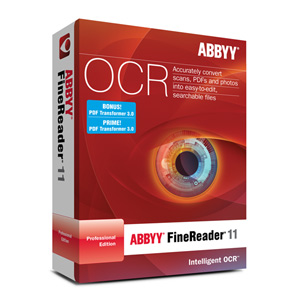 Abbyy FineReader 11 Professional Edition OCR Software