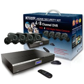 8CHANNEL H.264 DVR WITH 4CCD CAMERA AND 500GB HDD COMPLETE KIT